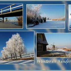 Collage van het winterlandschap...