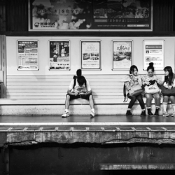 Waiting for the train to come