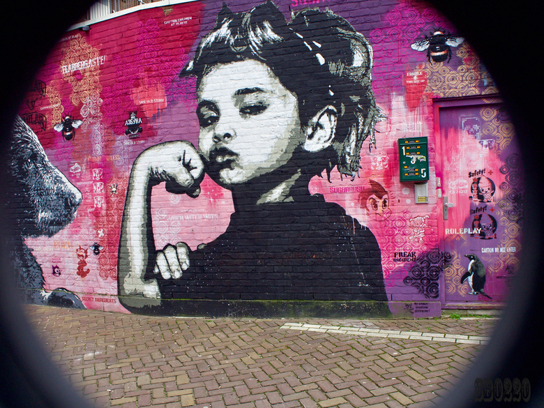 girl on the wall -