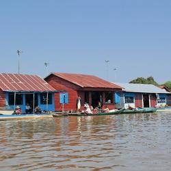 Huisjes op het water
