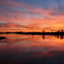 Dikke sunset IJssel