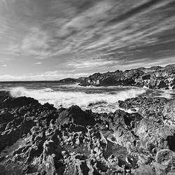 Coastal Area Black Waves