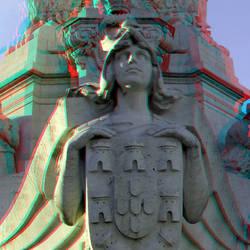 Pombal monument Lisbon 3D