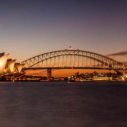Sydney bij zonsondergang