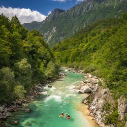 Soca rivier in Slovenie