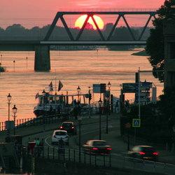 nog een zonsondergang in Deventer