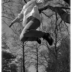 Un grand saut en l'air