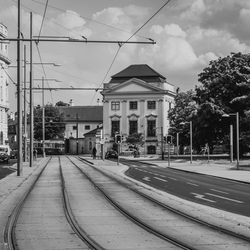 straatbeeld Wenen zw