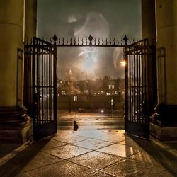 regen wind en mist bij De Dom te Berlin