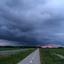 dreigende lucht in Drenthe