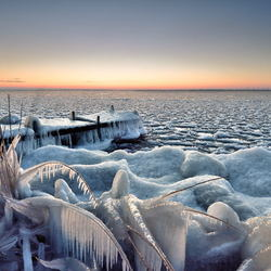 Bevroren steiger