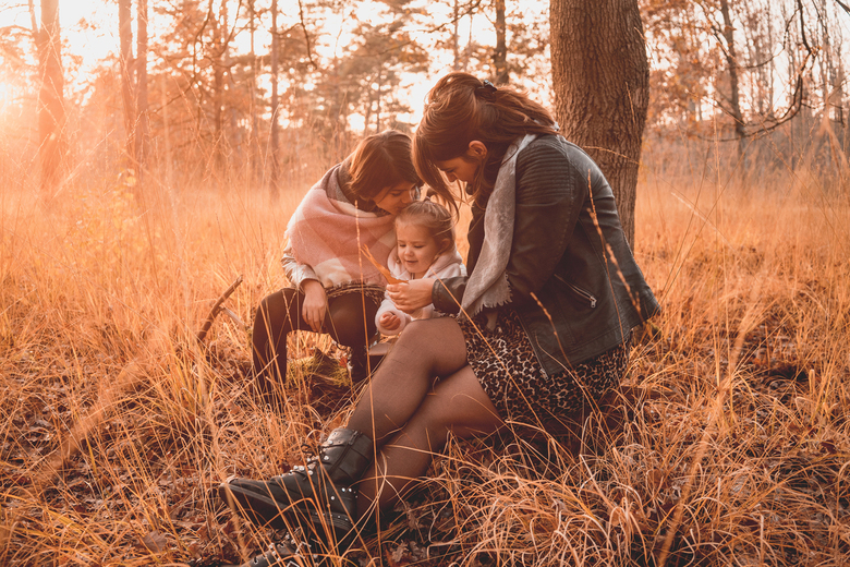 Family first - Soms levert het enorm mooie platen op als je tegen de zon in schiet.