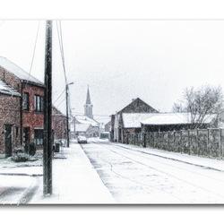 Sneeuw in onze straat!!