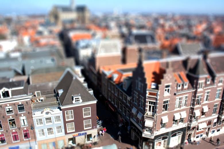 Haarlem - Met Tilt-Shift gemaakt. Haarlem. Vanuit La Place restaurant.