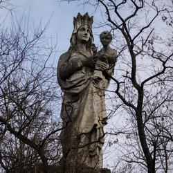 Verborgen Mariabeeld op de Keizersberg