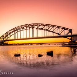 Sunset by Zwolle ( IJsselbrug )