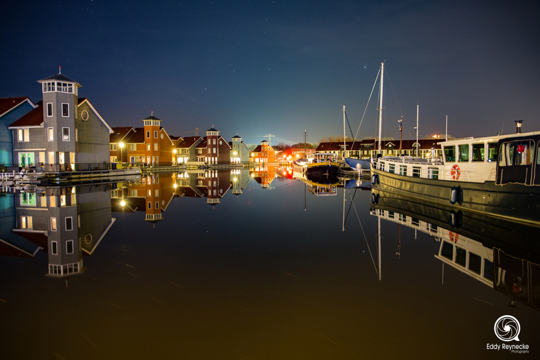 Reitdiephaven by night -