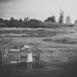 little girl in a big world..