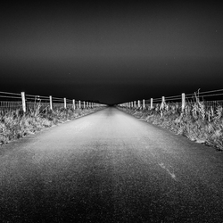 The road to vanishing point.