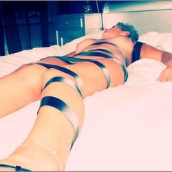 Bound by ribbon