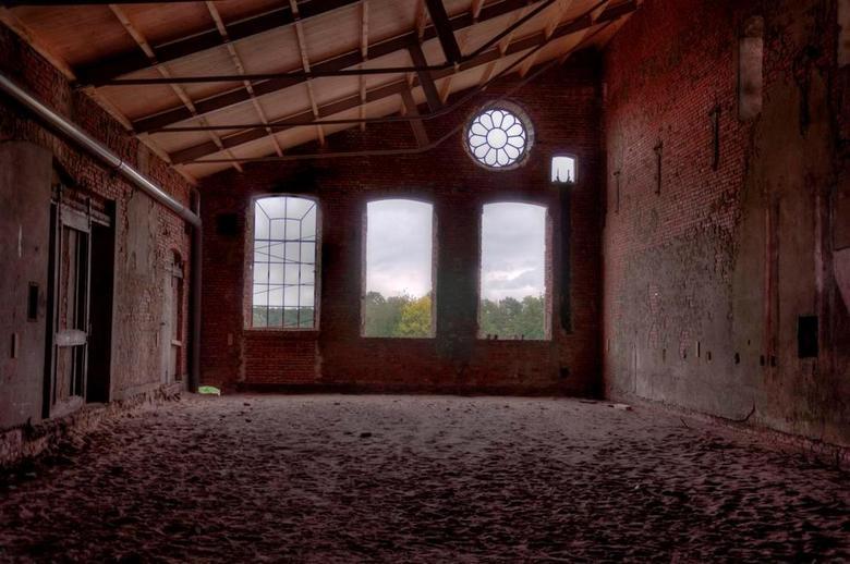 De Toekomst - Foto gemaakt binnen in een hal van De Toekomst in Scheemda