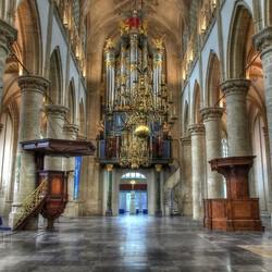 grote kerk Breda HDR