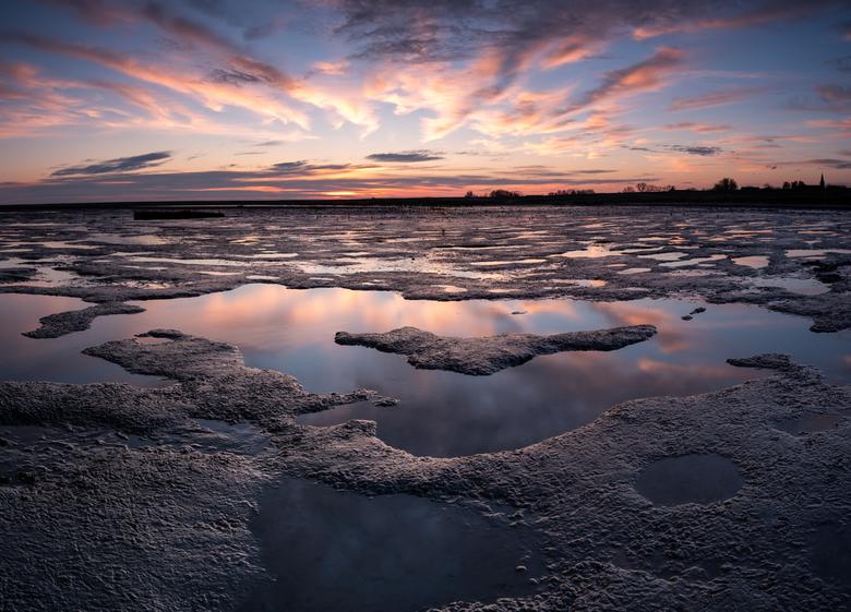 Rust - Leuke poeltjes en vormen op het wad bij zonsopkomst