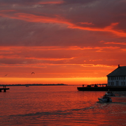 noorwegen zonsondergang