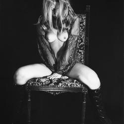 naakt op stoel 1970