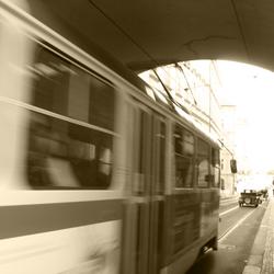 Tram in Praag