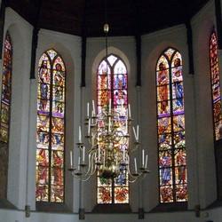 Interieur Grote of St.Janskerk Schiedam