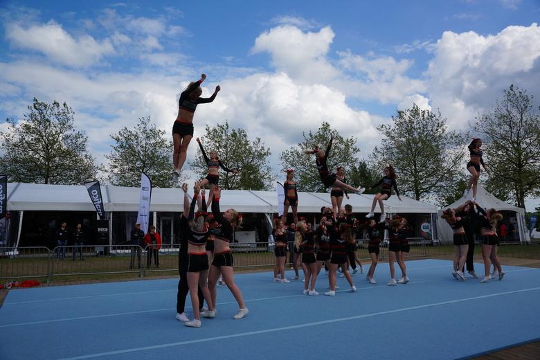 Cheerleaders in actie