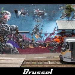 """Brussel - Tramhalte """"De wand"""""""