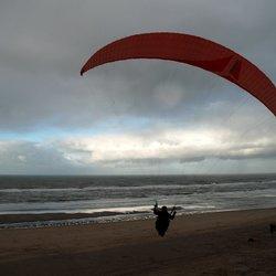 paragliding op het slufterstrand
