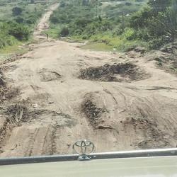 Rijweg in Tanzania