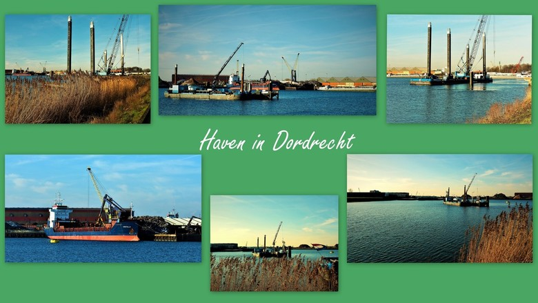 Dordtse haven..... - .....collage van een Dordtse haven 16 januari 2020.