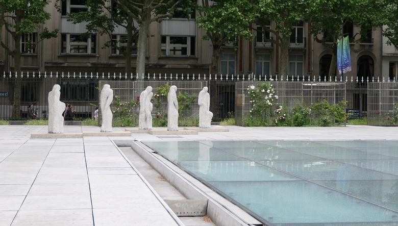 Palais des Beaux Arts, Lille - Rondom het Palais des Beaux Arts in Lille.