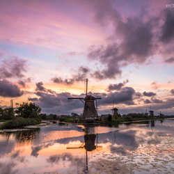 The colors of sunset  - Kinderdijk