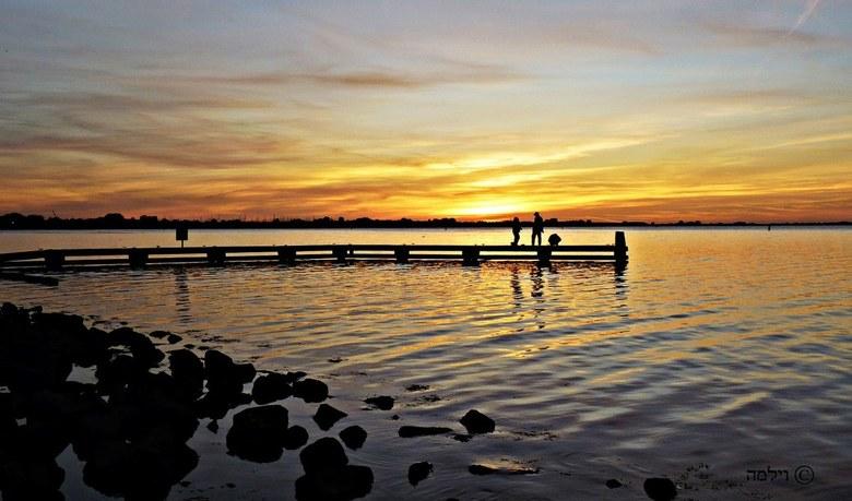 Avond aan het Grevelingen meer - Avond aan het Grevelingen meer...