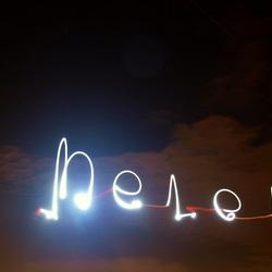 Mijn naam in de lucht