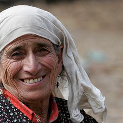 Doorleefde gezichten in Kashmir