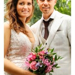 bruidspaar Nigel en Dominique