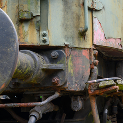 Oud treinstel