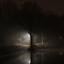 Lantaarn in de mist