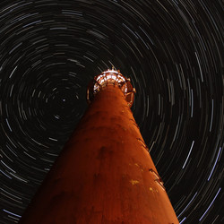 lighthouse startrail