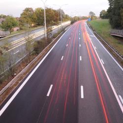 snelweg in beweging