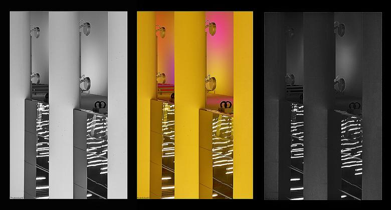 Forbidden pictures 5 - Detailopname. Middelste is het origineel, andere twee zijn op twee manieren omgezet naar zwart-wit. Vaak krijg je de vraag hoe
