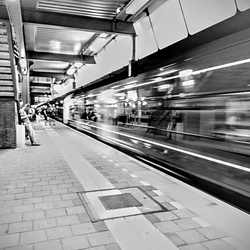 Trein Black and White