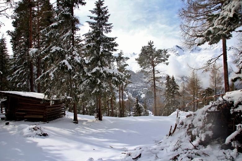 winter wonderland - Een fantastisch ski oord: Sölden, maar een wandeling in maagdelijke sneeuw..., super.