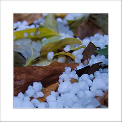 herfst en hagel